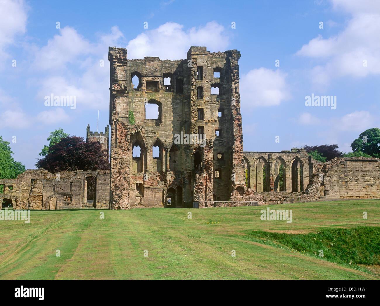 ruins castle ashby-de-la-zouch leicestershire uk - Stock Image
