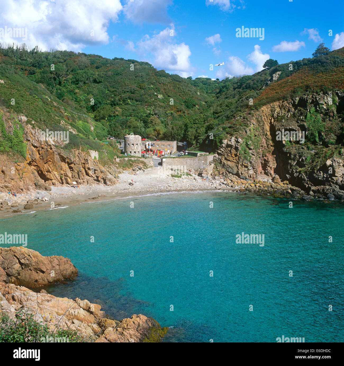 Petit Bot Bay Forest in Guermseu Channel Islands - Stock Image