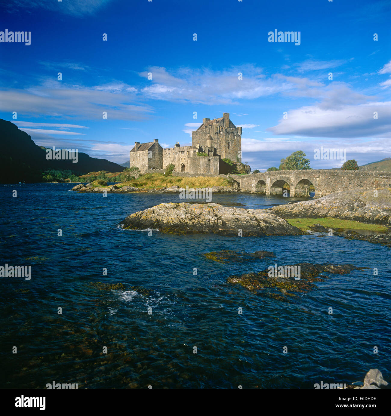 eilean donan castle in scotland uk - Stock Image
