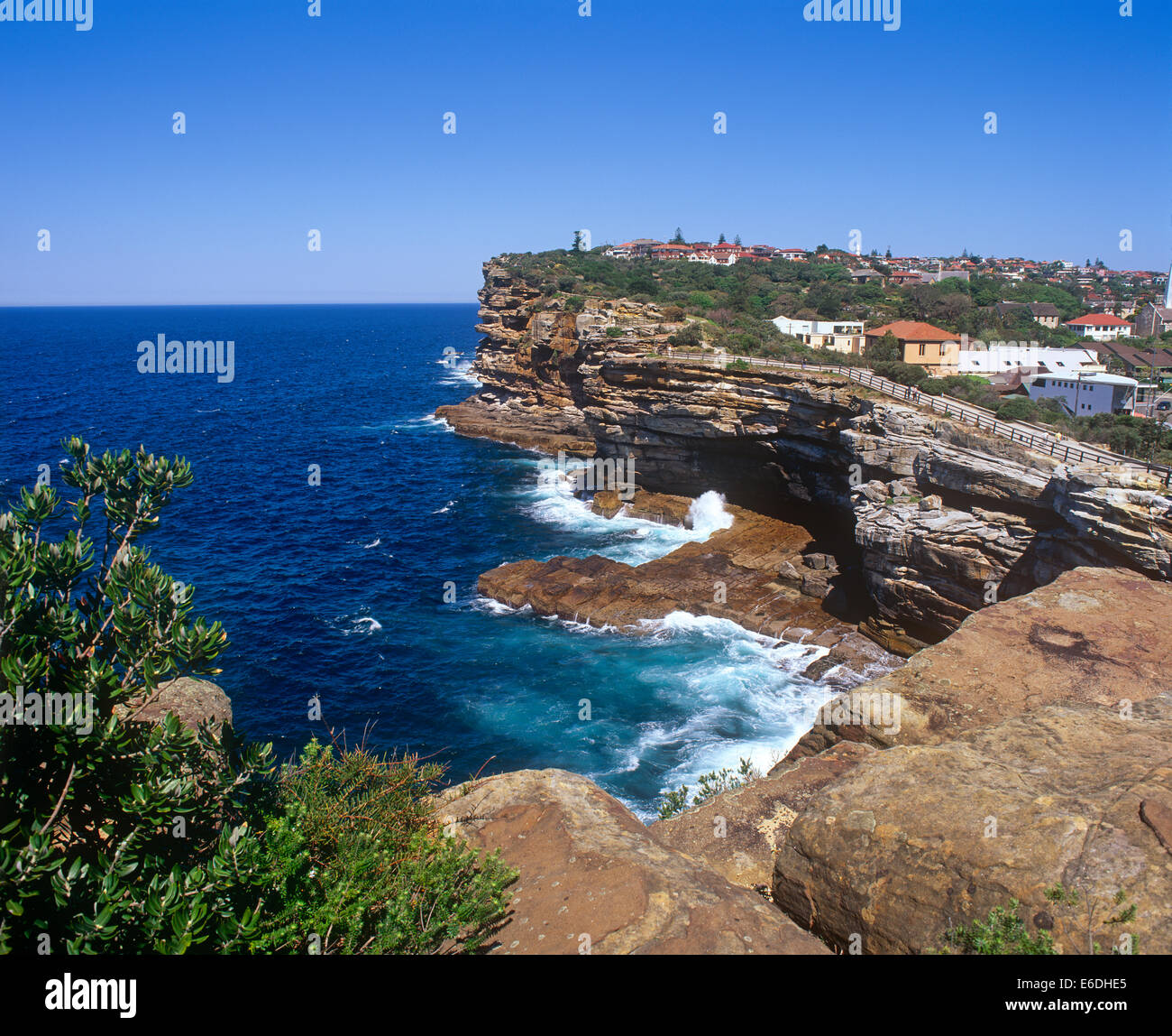 cliffs the gap sydney new south wales australia - Stock Image