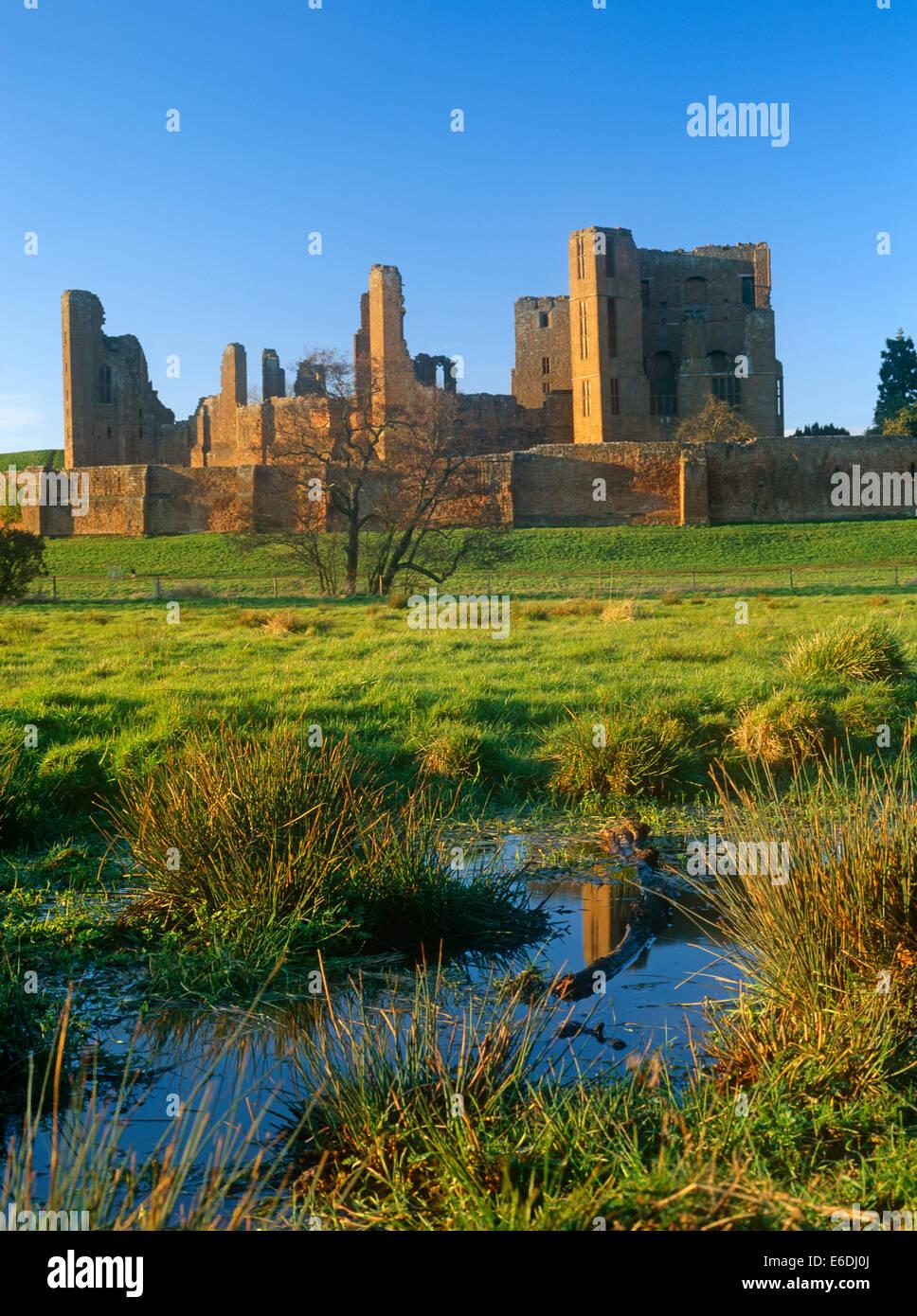 Kenilworth Castle Warwickshire UK - Stock Image