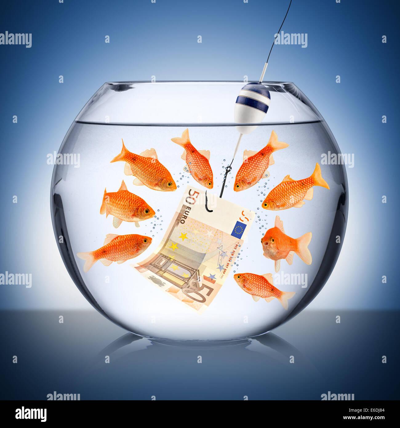 fish temptation concept - Stock Image