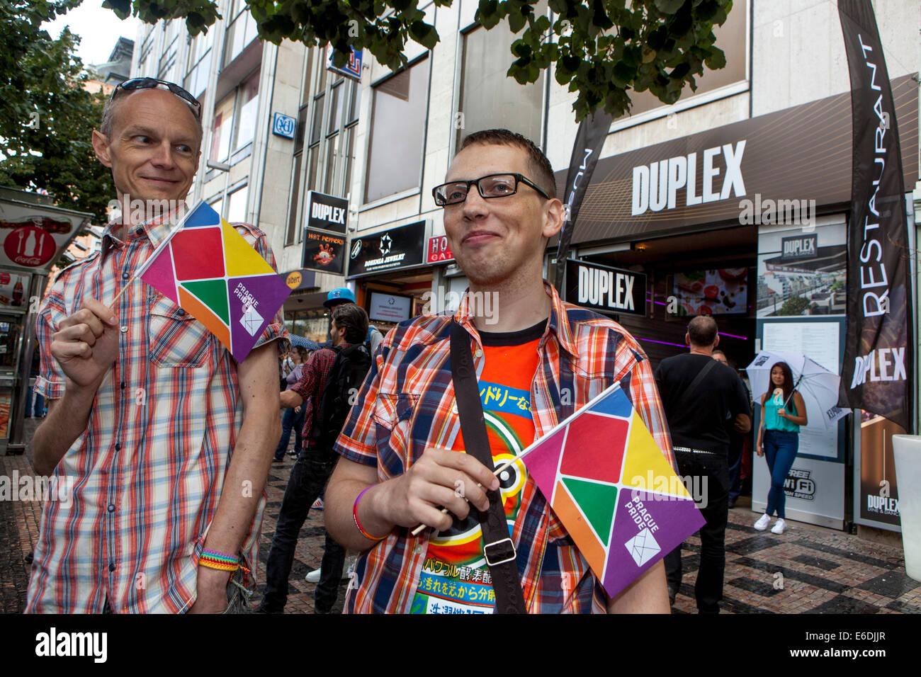 Prague pride. Festival LGBT community, Wenceslas square Prague, Czech Republic - Stock Image