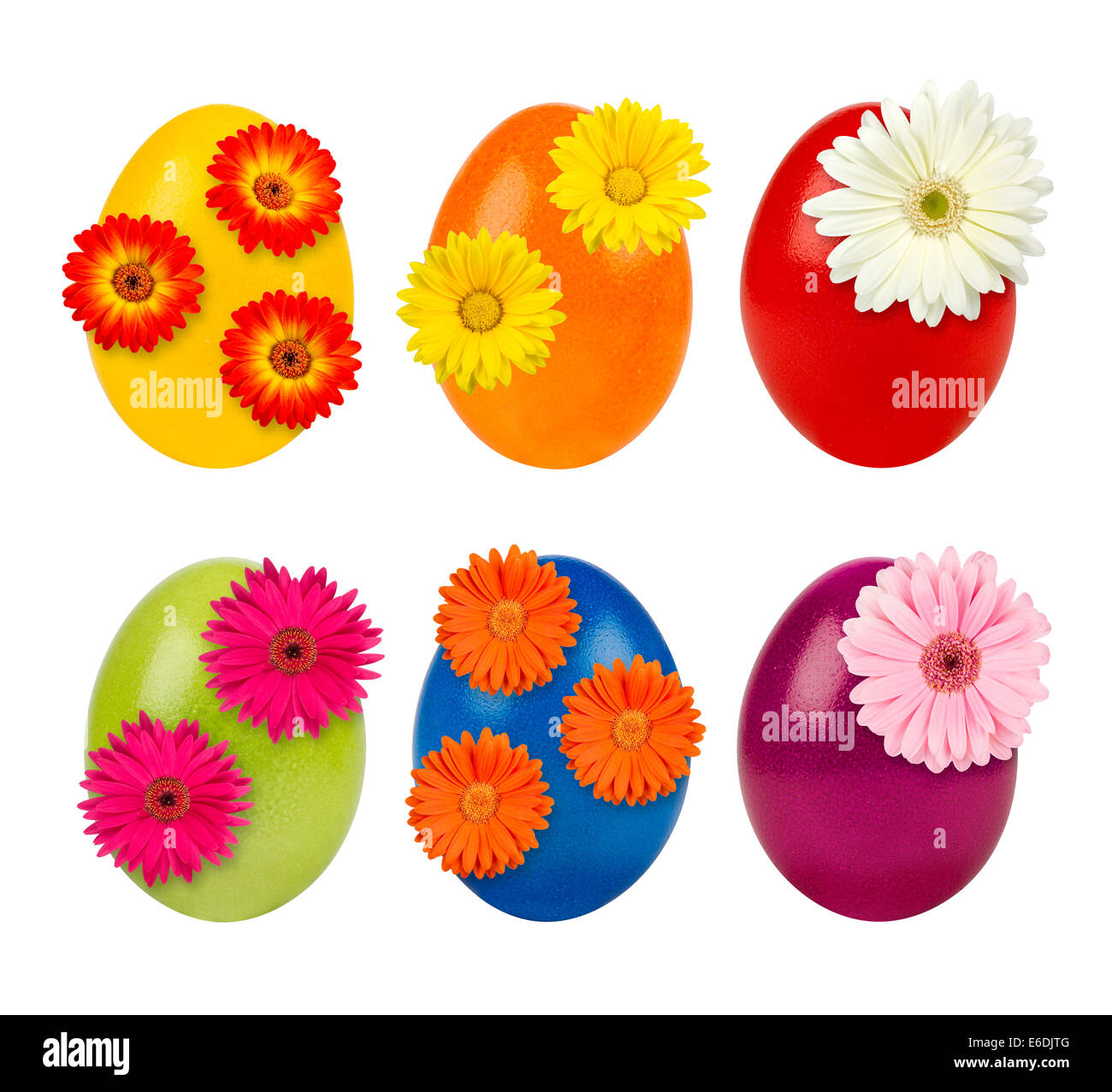 set of decorated easter eggs Stock Photo