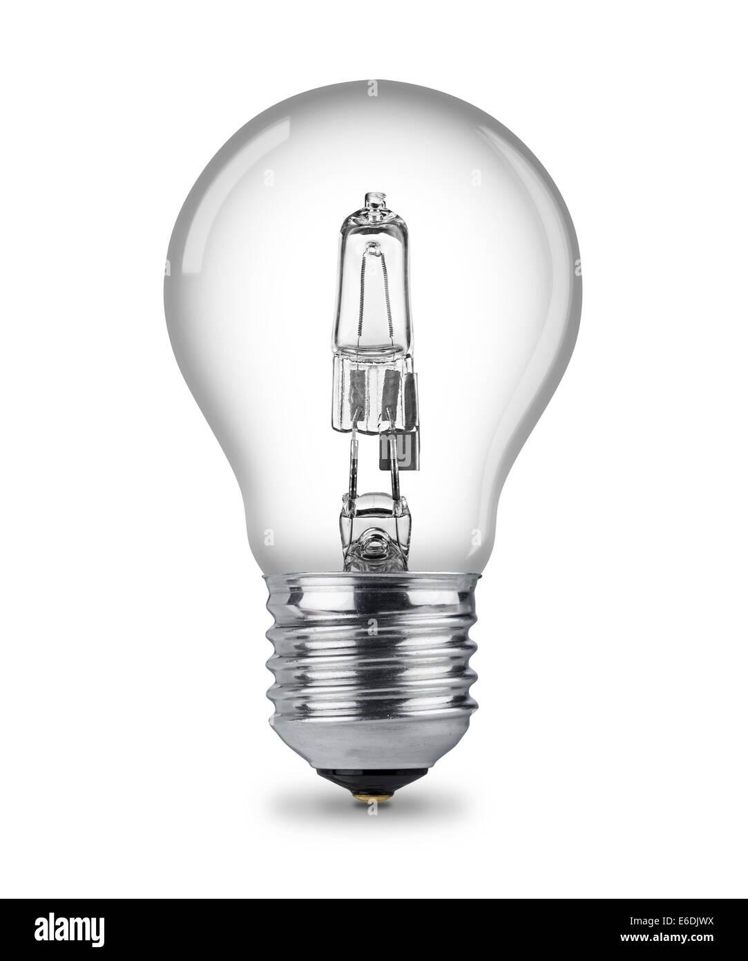 halogen light bulb - Stock Image