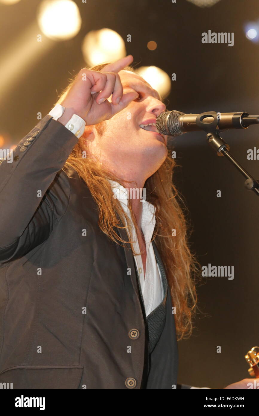 D.A.D vocalist on stage - Stock Image