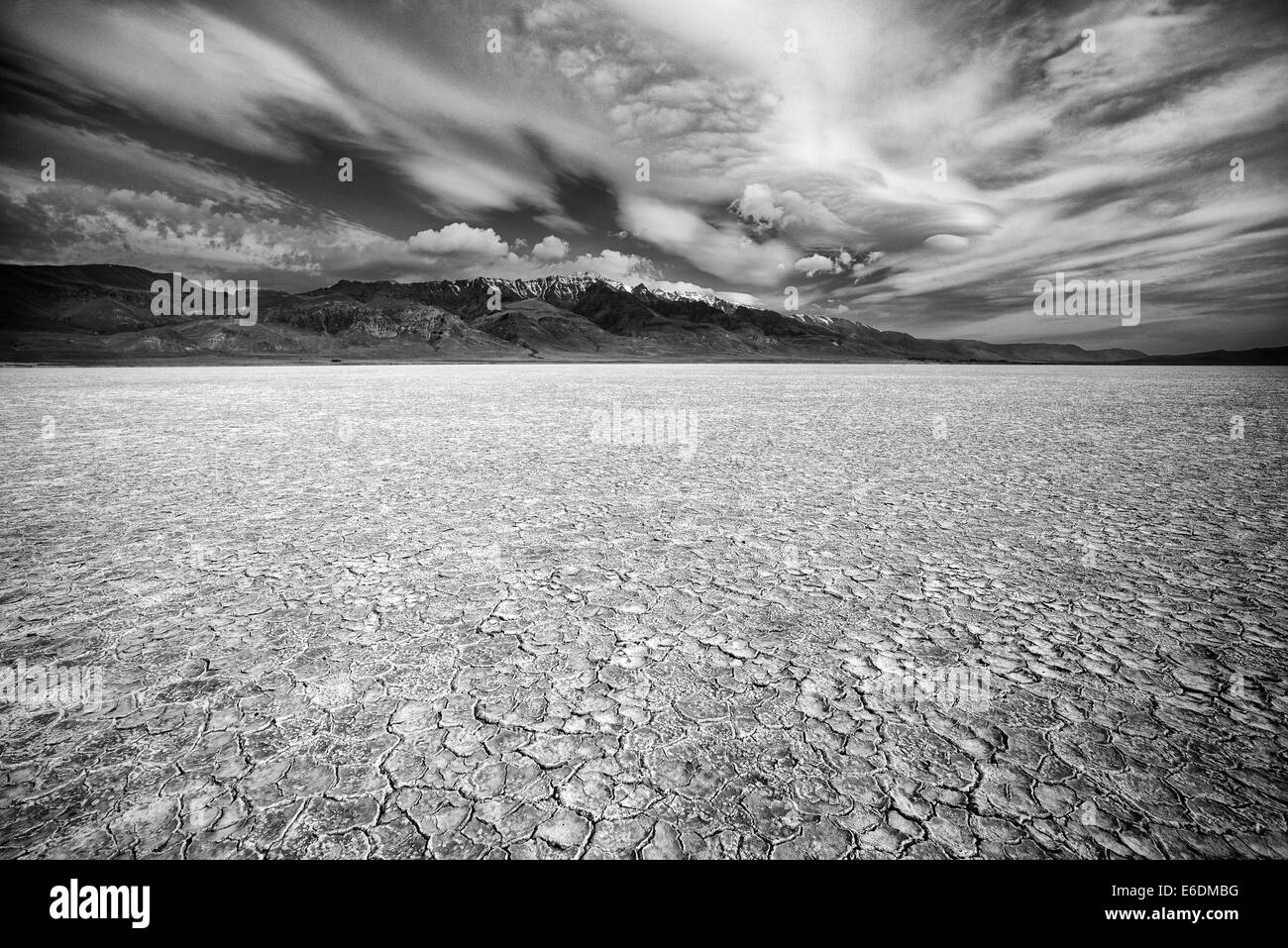 Alvord desert and Steens Mountain, Oregon - Stock Image