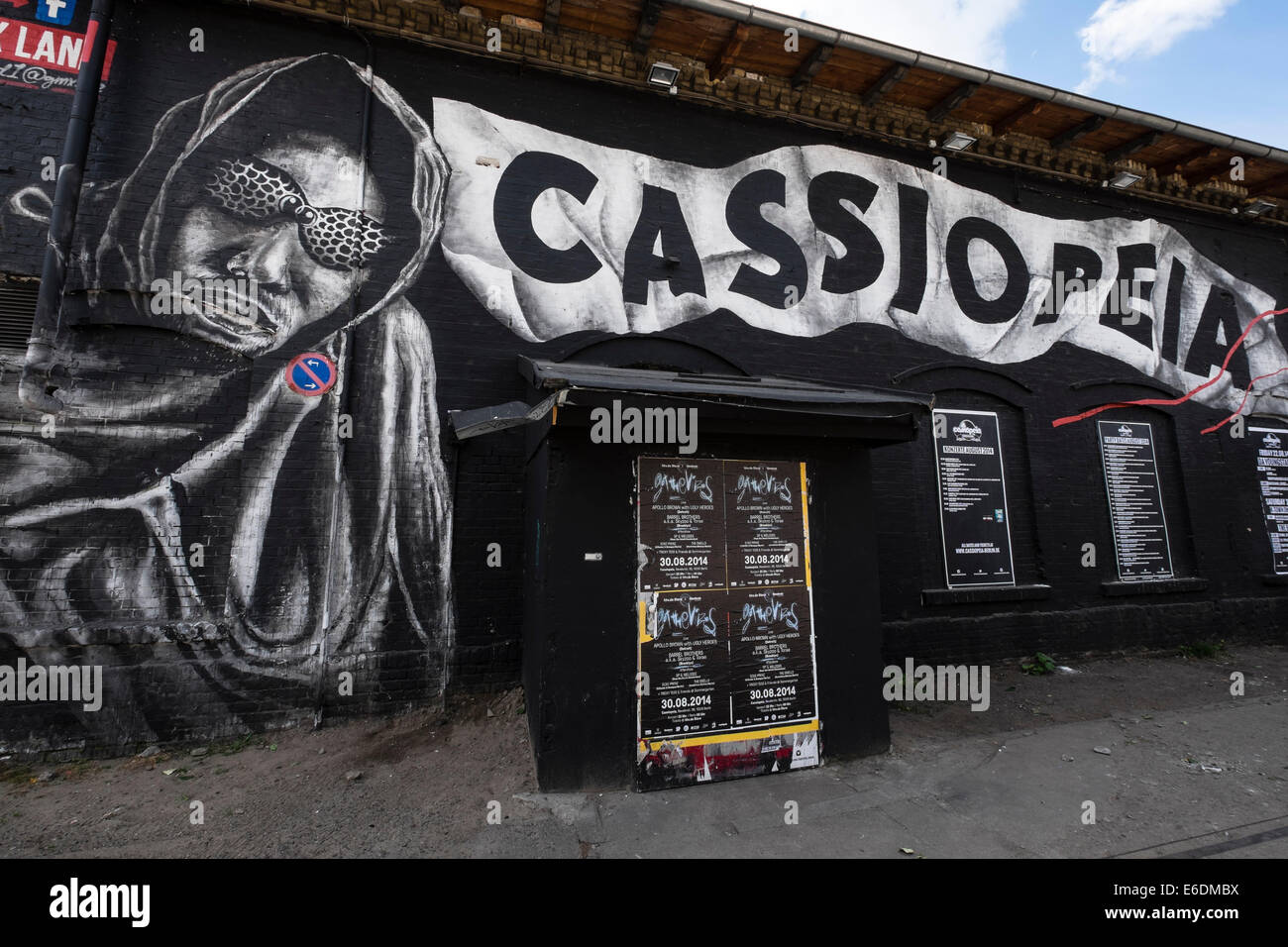Cassiopeia nightclub in Urban Spree bohemian culture district on 'Clubbing Mile ' on Revaler Street in Friedrichshain - Stock Image