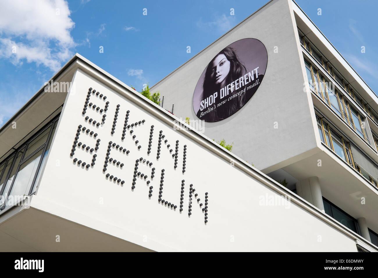 Exterior view of new Bikini Berlin shopping mall in Berlin Germany - Stock Image