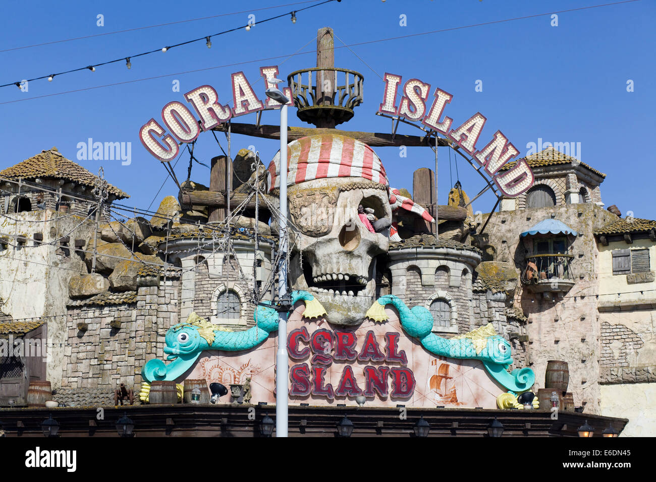 Coral Island Along The Seafront At Blackpool Lancashire Uk Stock