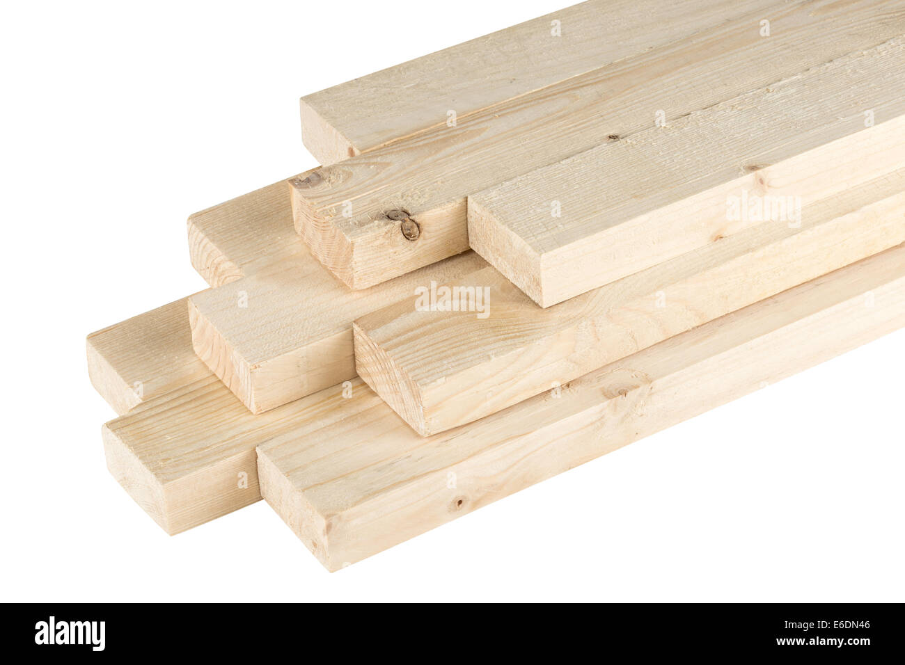 stack of roof battens Stock Photo