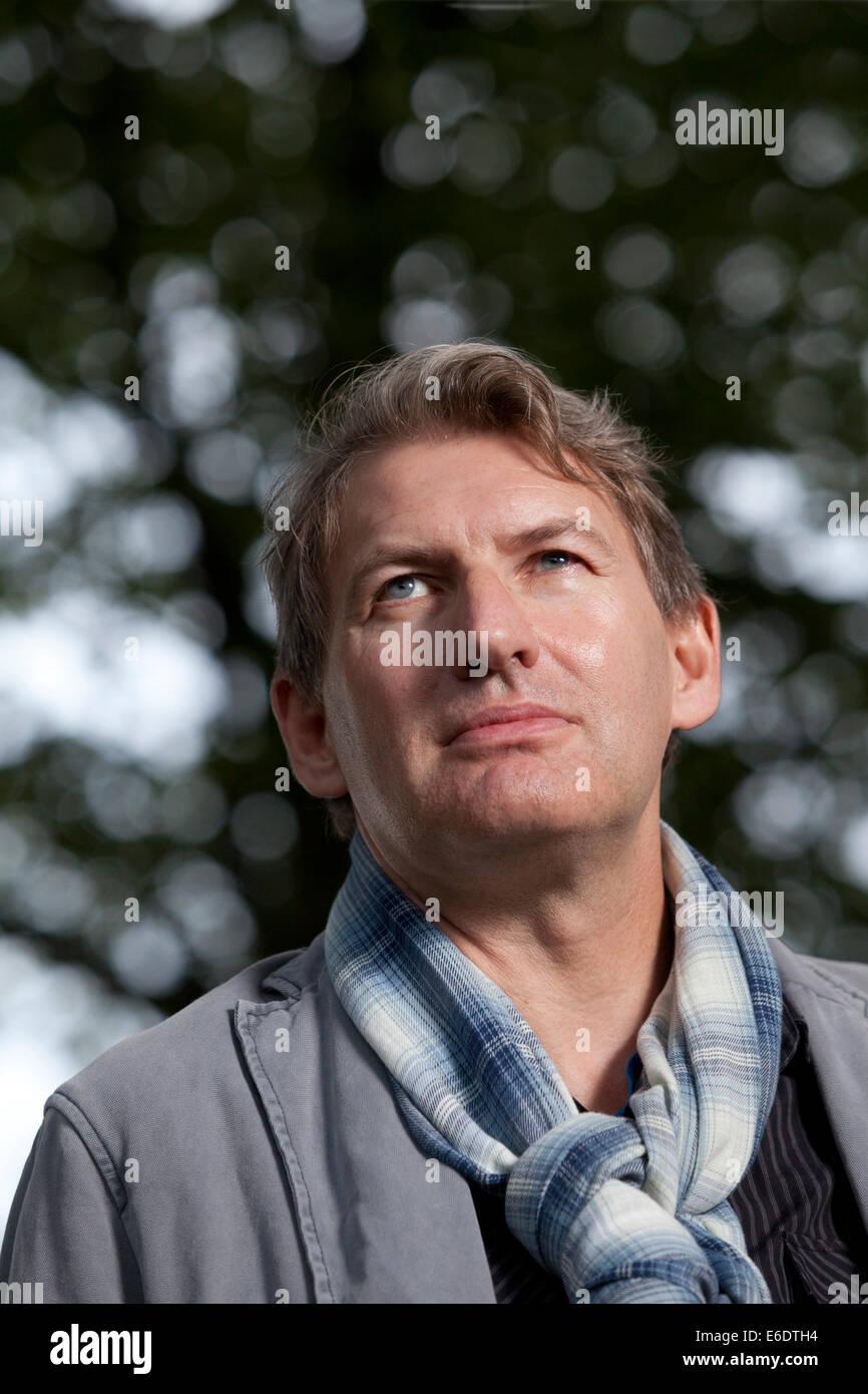 Edinburgh, Scotland, UK. 21st August, 2014. Alan Warner, Scottish author, at the Edinburgh International Book Festival - Stock Image