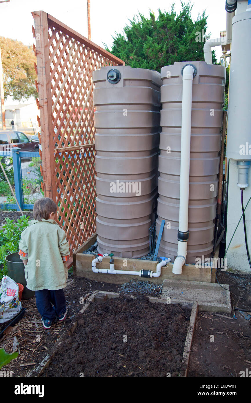 620 Gallon Rain Barrels At The Community Garden At The Holy Nativity  Episcopal Church In Westchester