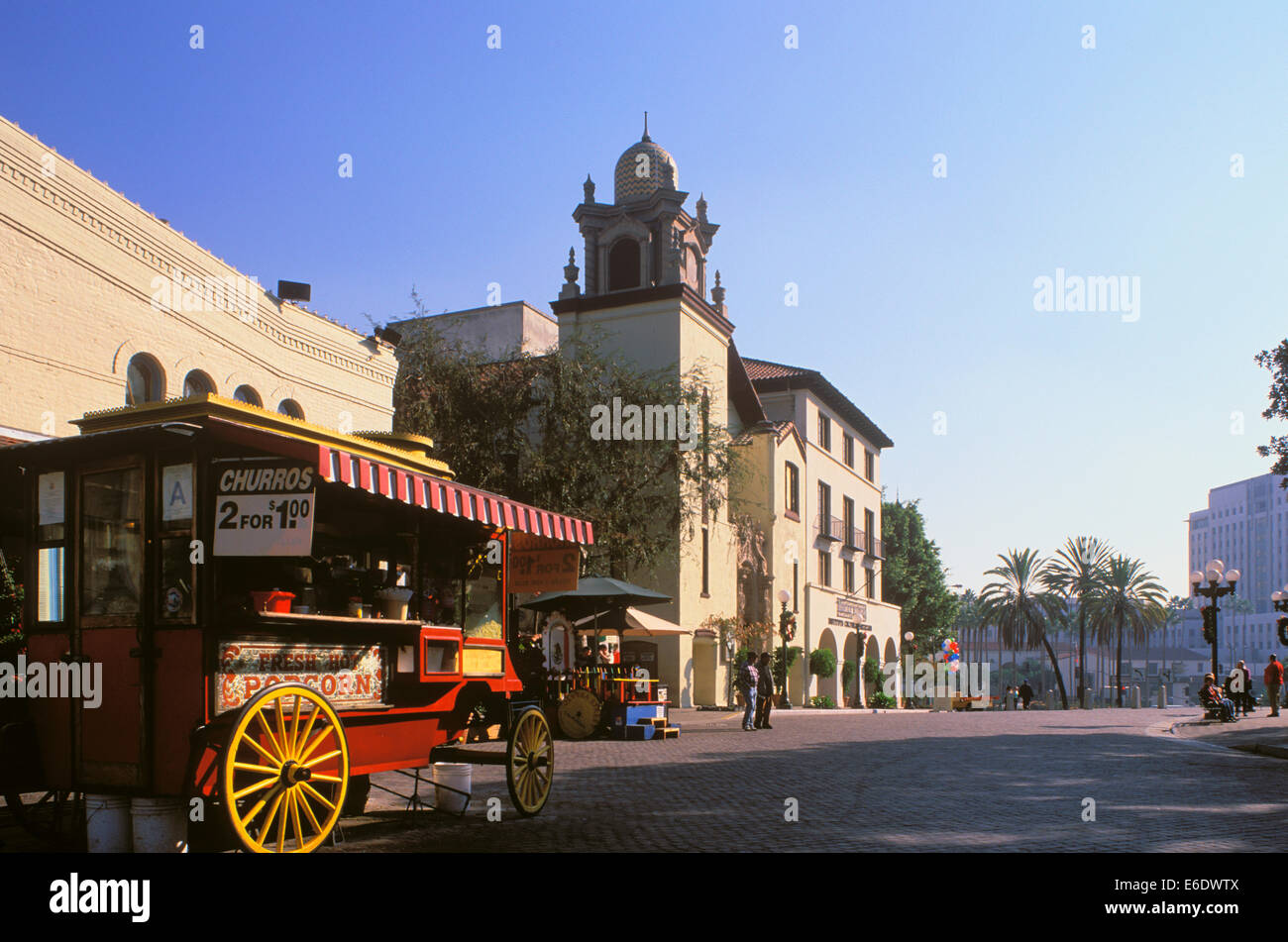 Old Plaza, El Pueblo de Los Angeles, Olivera Street, California, USA. - Stock Image