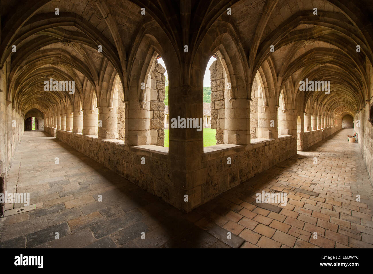 Monastery cloister - Stock Image