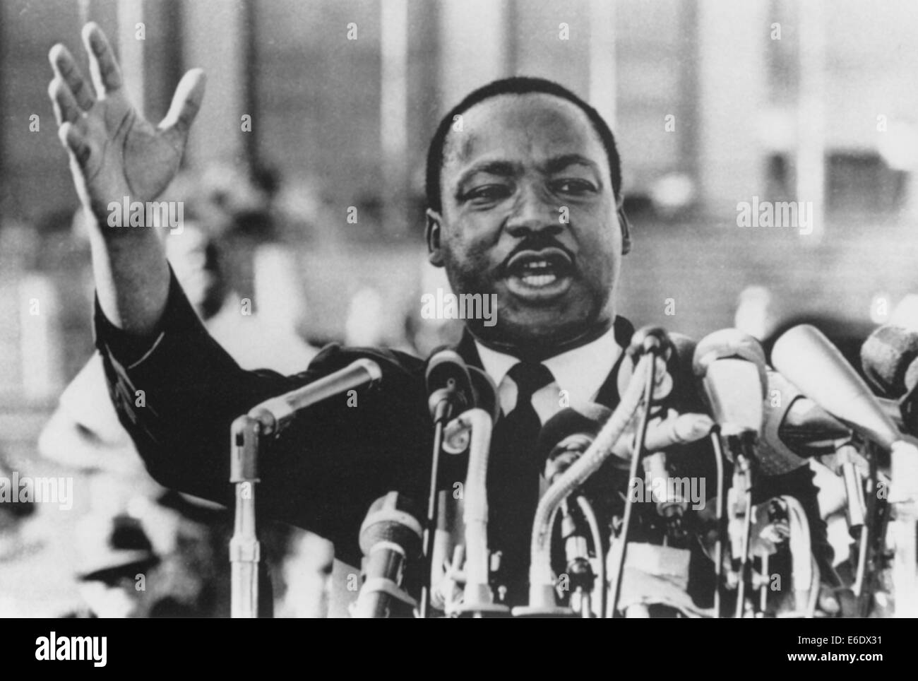 Martin Luther King, Jr., Close-Up During Speech, circa 1960's - Stock Image