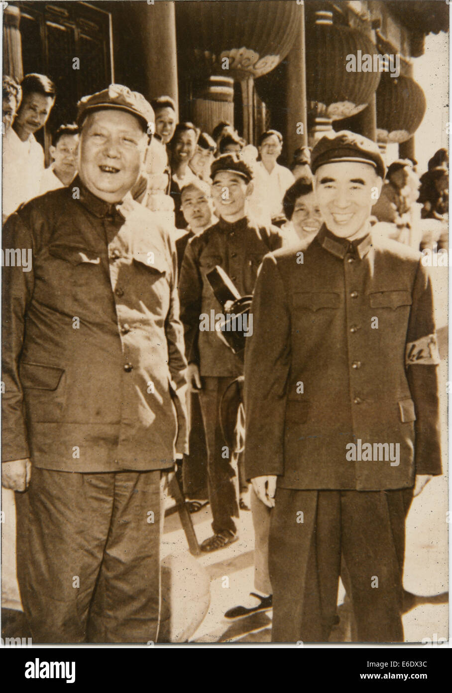 Chairman Mao Zedong and Premier Zhoe Enlai, People's Republic of China, Portrait, 1949 - Stock Image