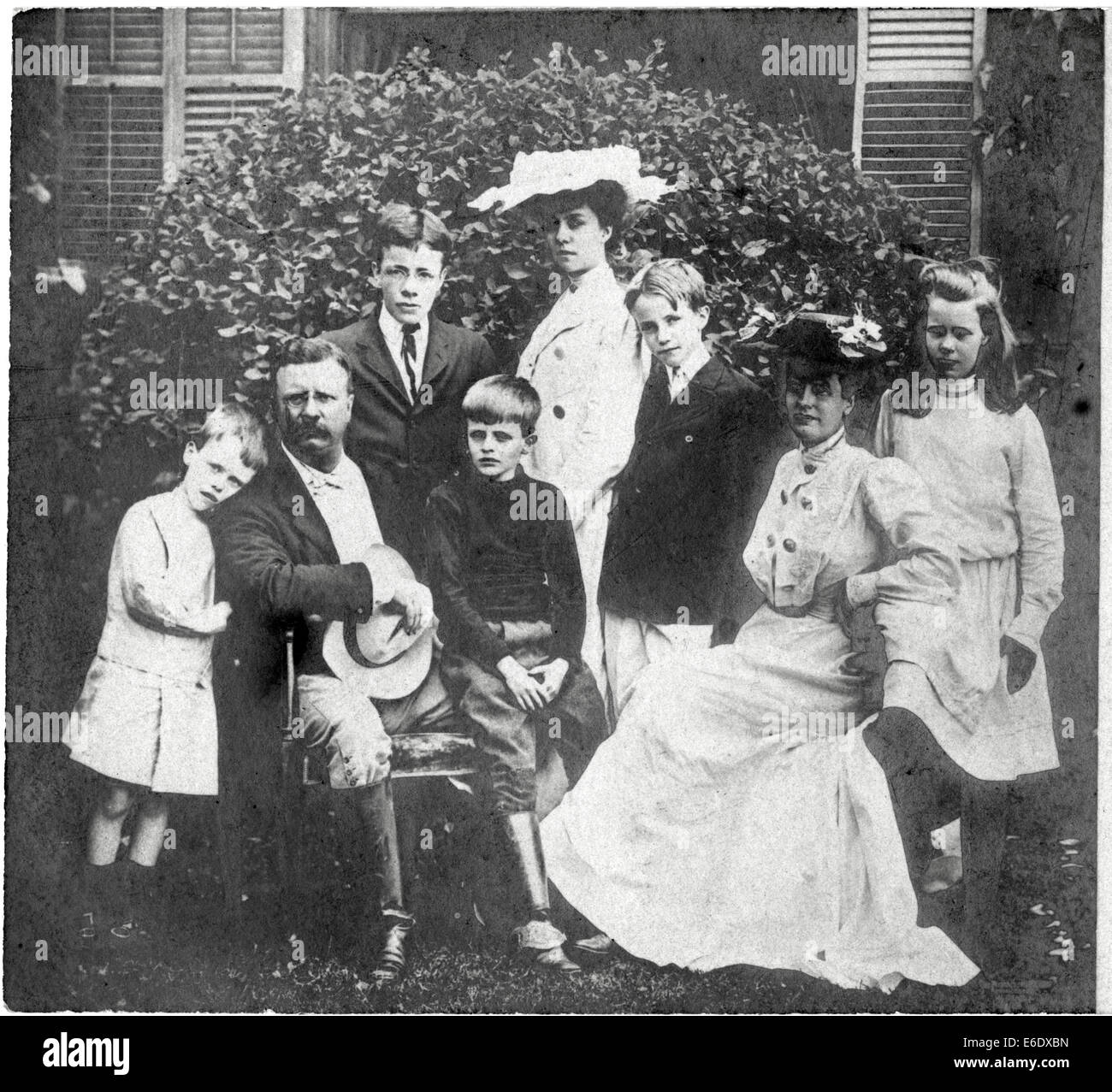 U.S. President Theodore Roosevelt and Family, Portrait, 1904 - Stock Image