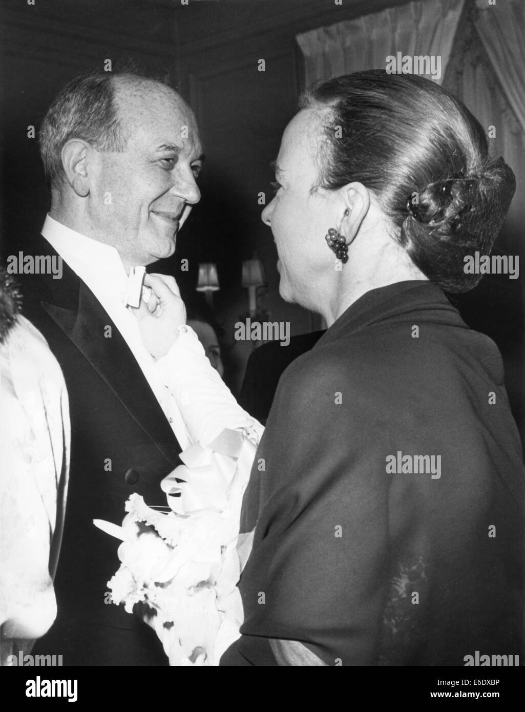 U.S. Secretary of State Dean Rusk with Wife, Virginia, at Formal Dinner given by Nicaraguan Ambassador, Washington, - Stock Image