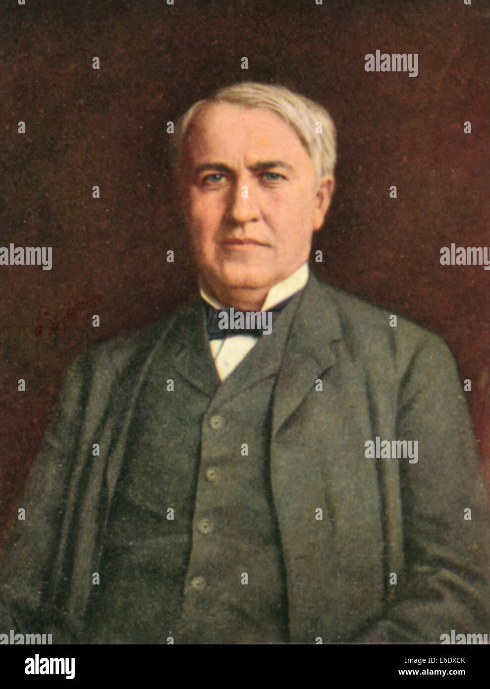 Thomas Alva Edison 1847 1931 American Inventor Portrait