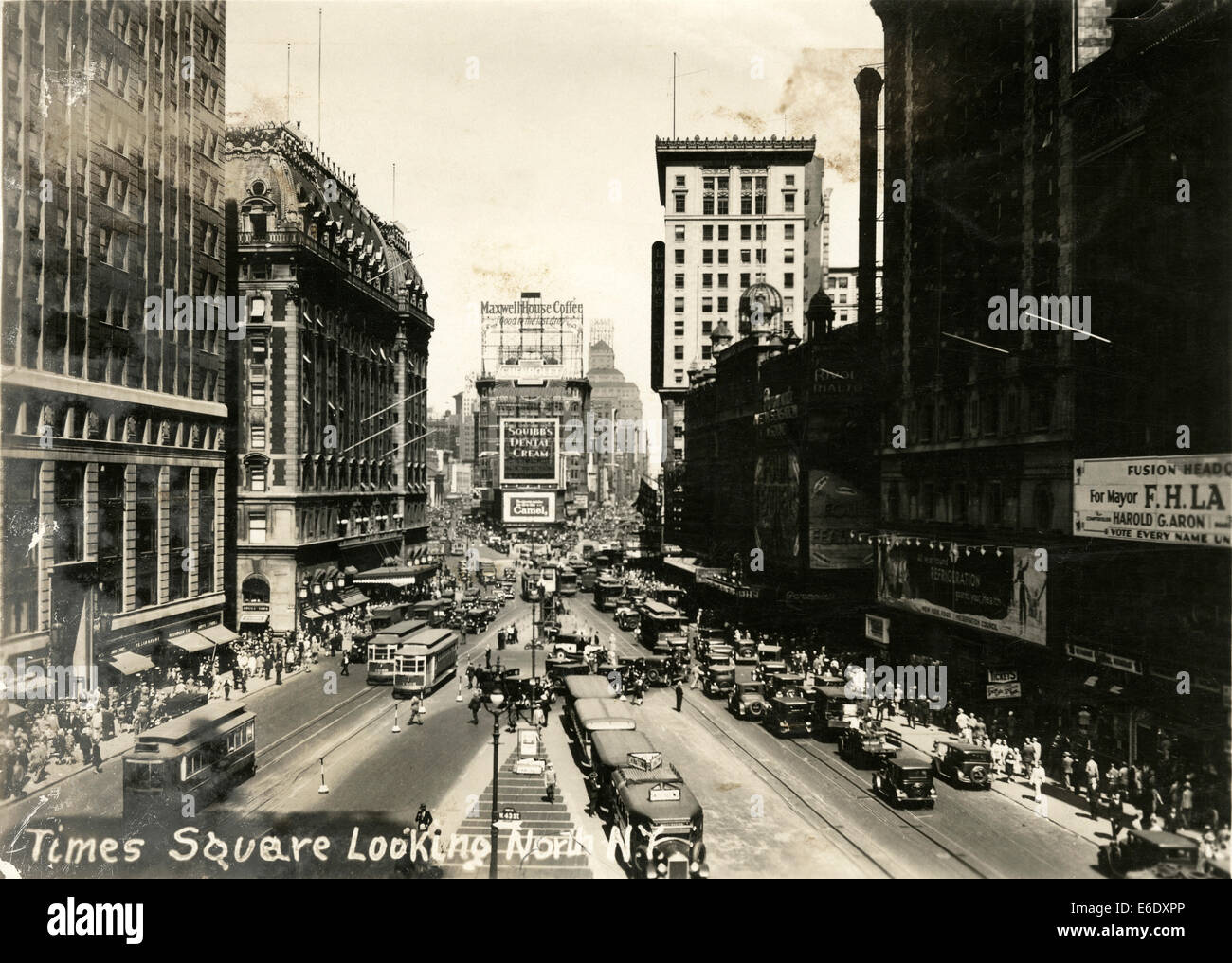Times Square Looking North from 42nd Street, New York City, USA, circa 1933 - Stock Image