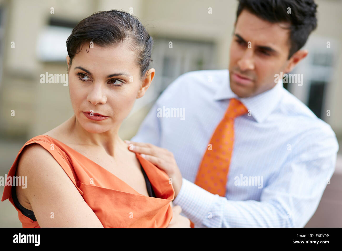 Couple consoling - Stock Image