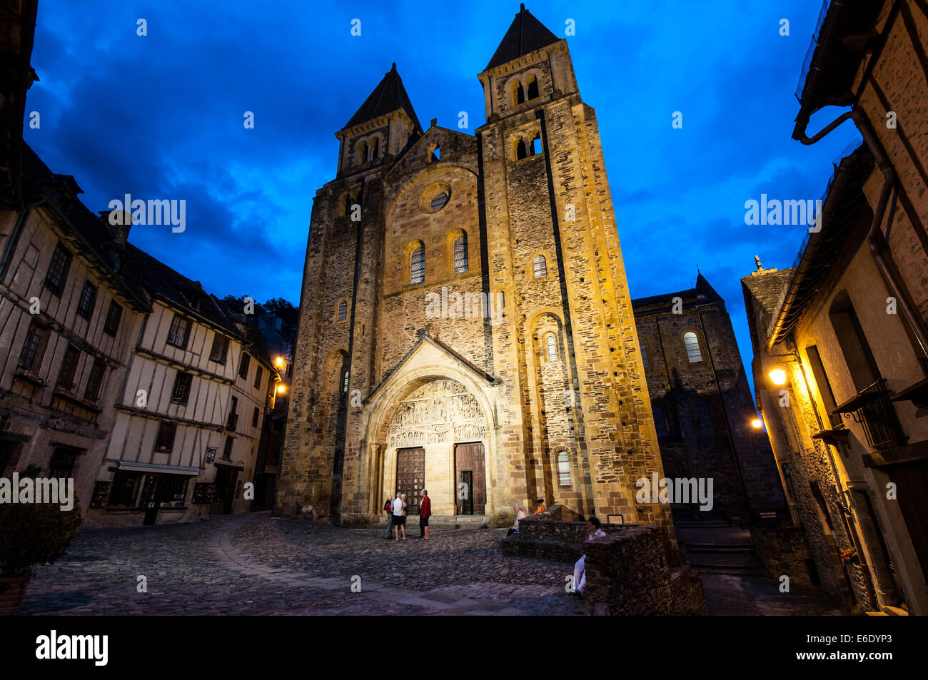 The most beautiful village in France, Conques in the middle of Camino Santiago - Stock Image