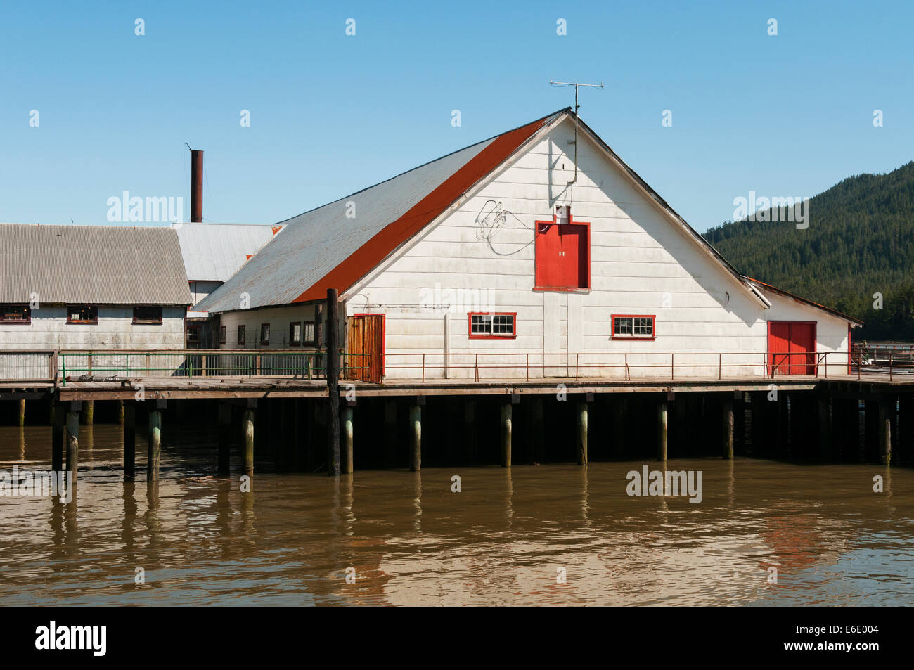 Elk203-4250 Canada, British Columbia, Port Edward, North Pacific Cannery National Historic site, cannery building - Stock Image