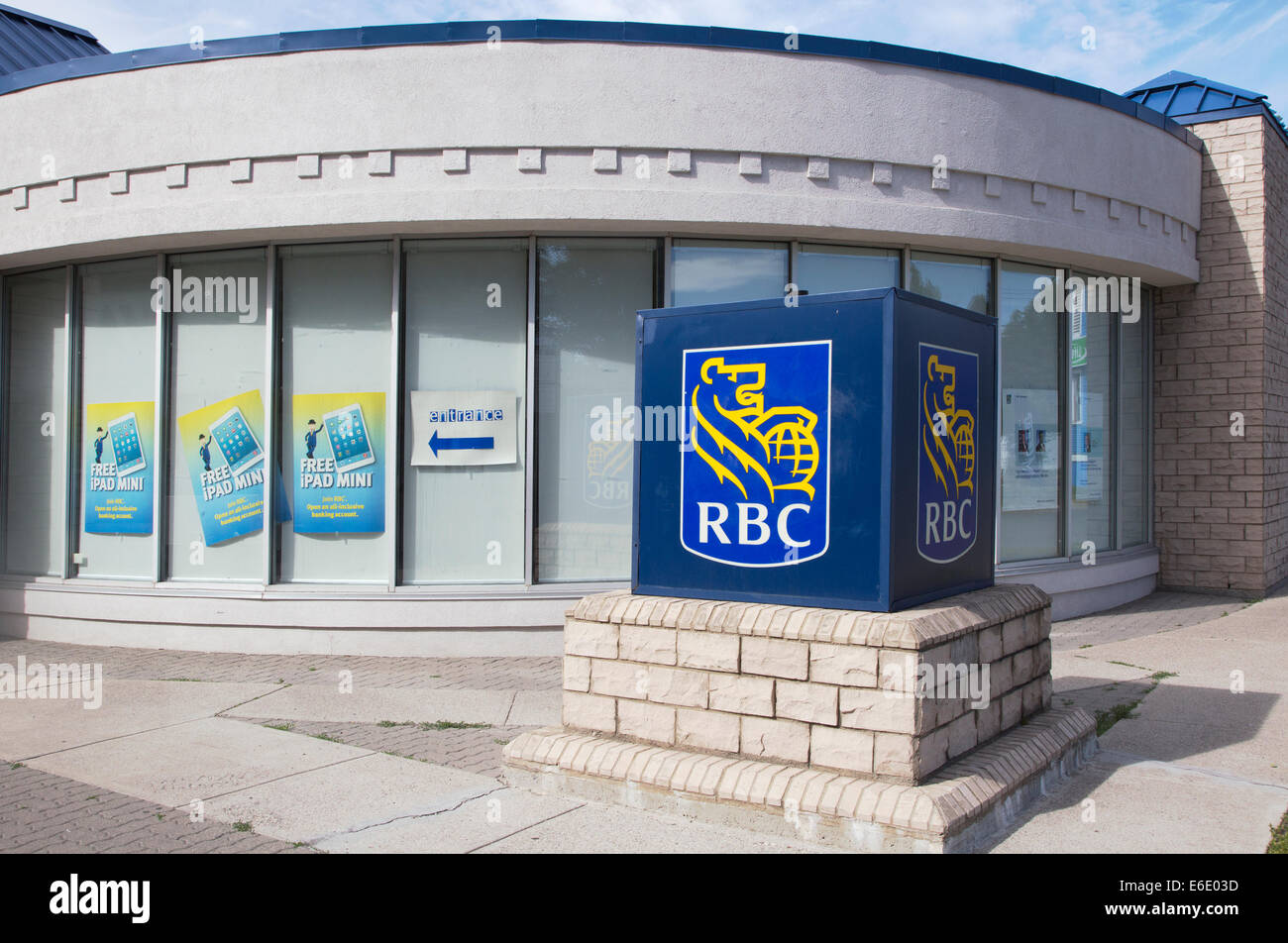 RBC Royal Bank offering promotion - Stock Image
