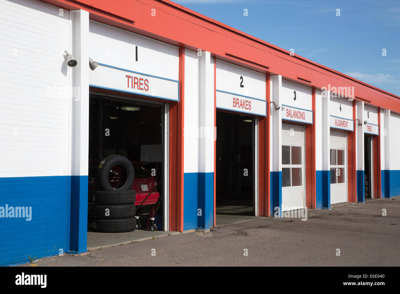Tire store - Stock Image