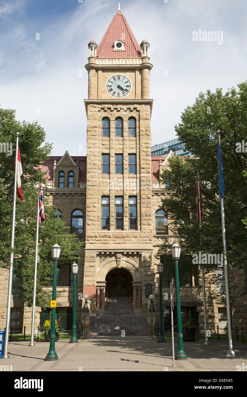 Calgary city hall, a national historic building opened in 1911. - Stock Image