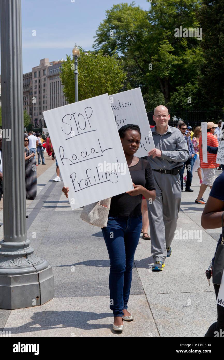 Police brutality protesters - Washington, DC USA - Stock Image