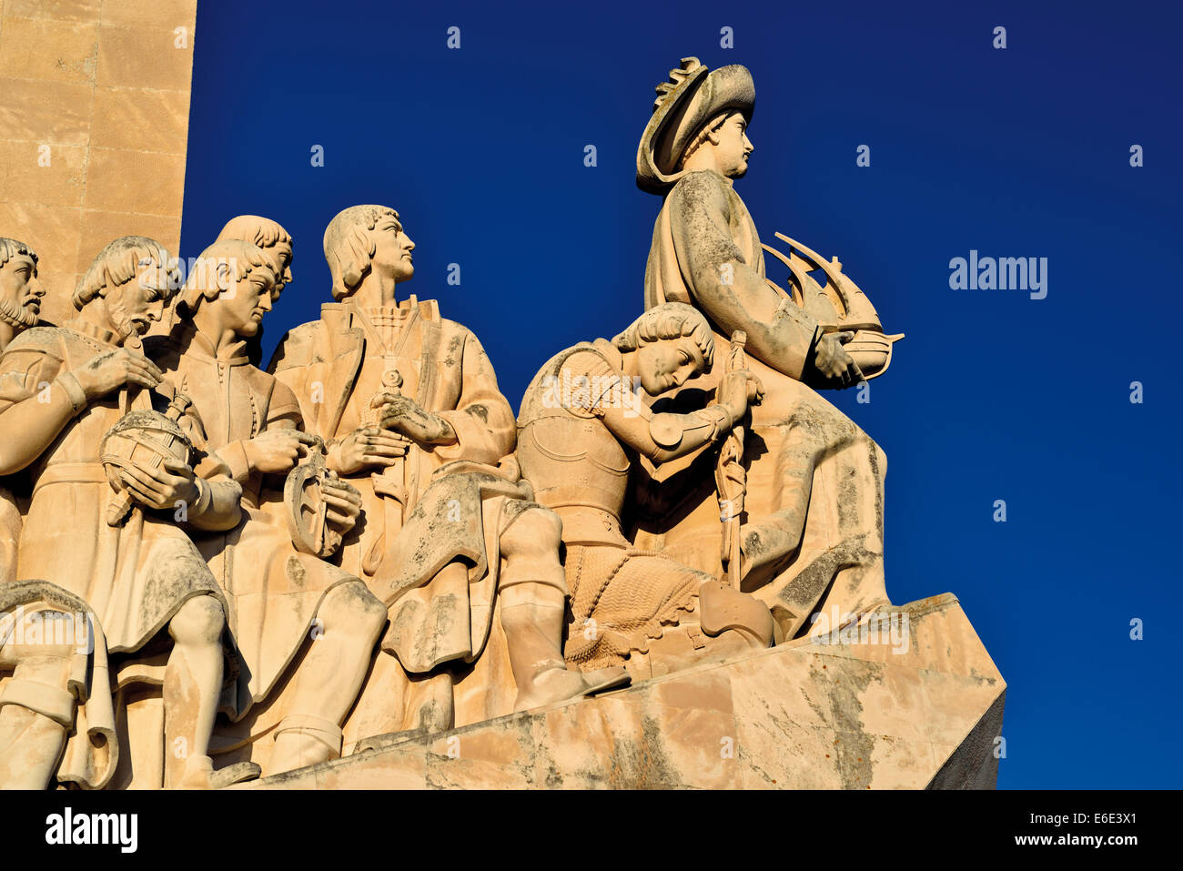 Portugal, Lisbon: Sculptures of the Discoverie´s Monument - Stock Image