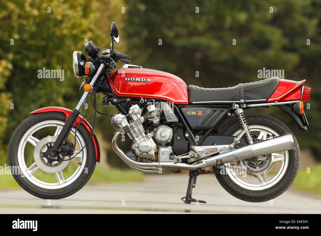 Motorcycle, Honda CBX Super Sport - Stock Image