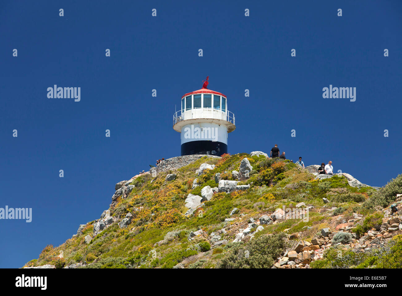Lighthouse at the Cape of Good Hope, Cape Town, Western Cape, South Africa - Stock Image