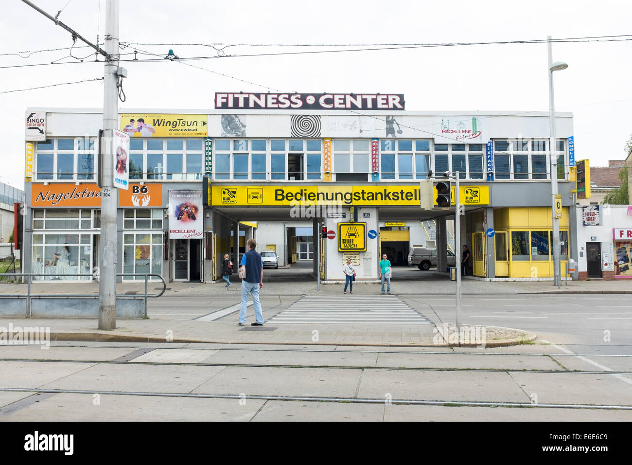 Fitness center in Simmering, Viena - Stock Image