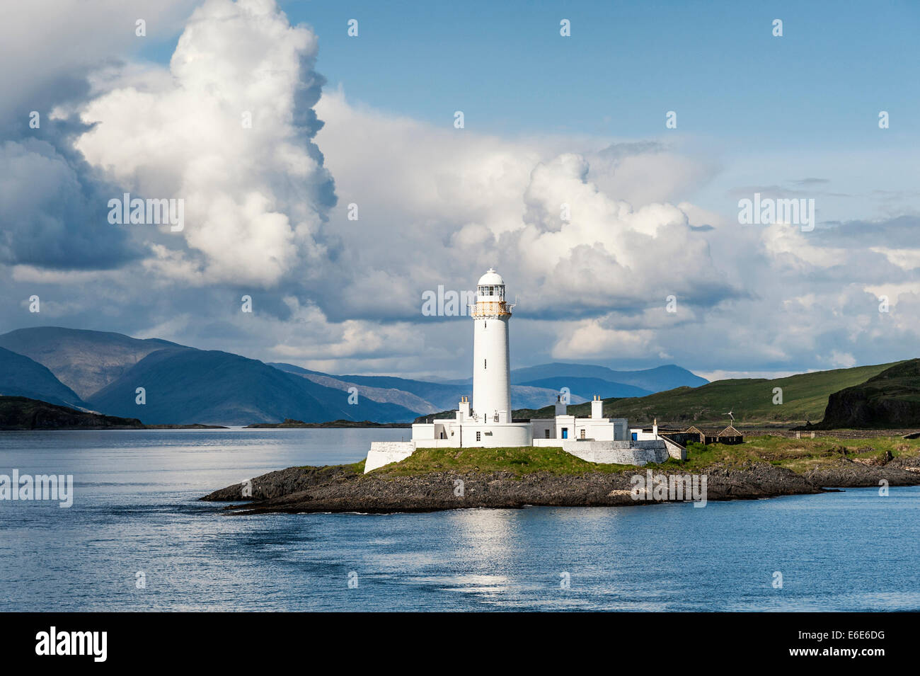 Lismore Lighthouse from ferry between Oban and Mull - Stock Image
