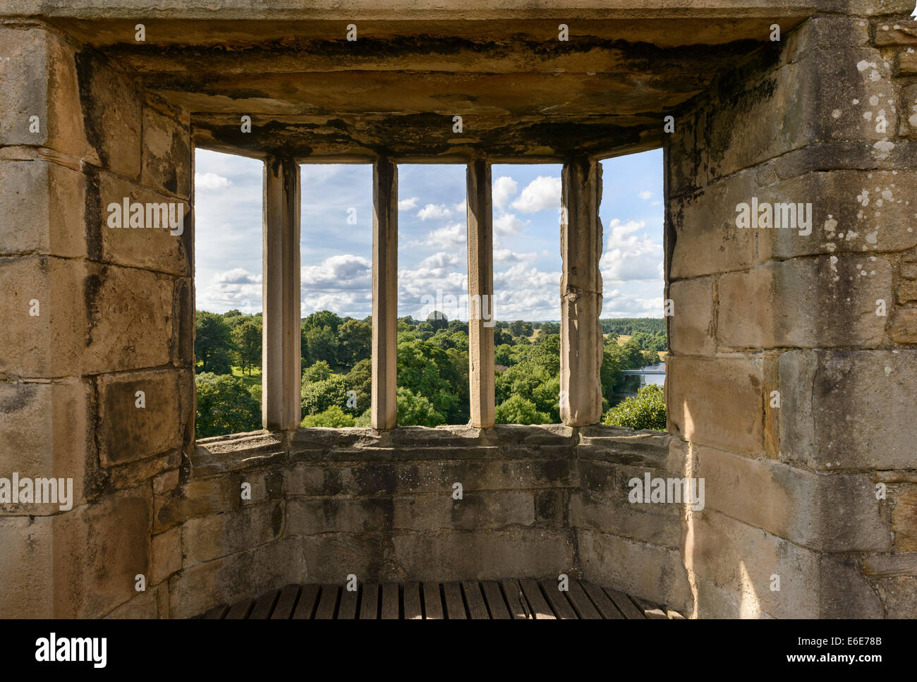 The Oriel Window of the Great Chamber In Barnard Castle - Stock Image