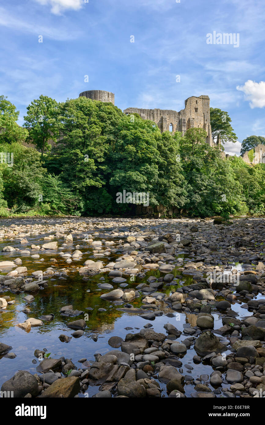 Barnard Castle and the River Tees - Stock Image
