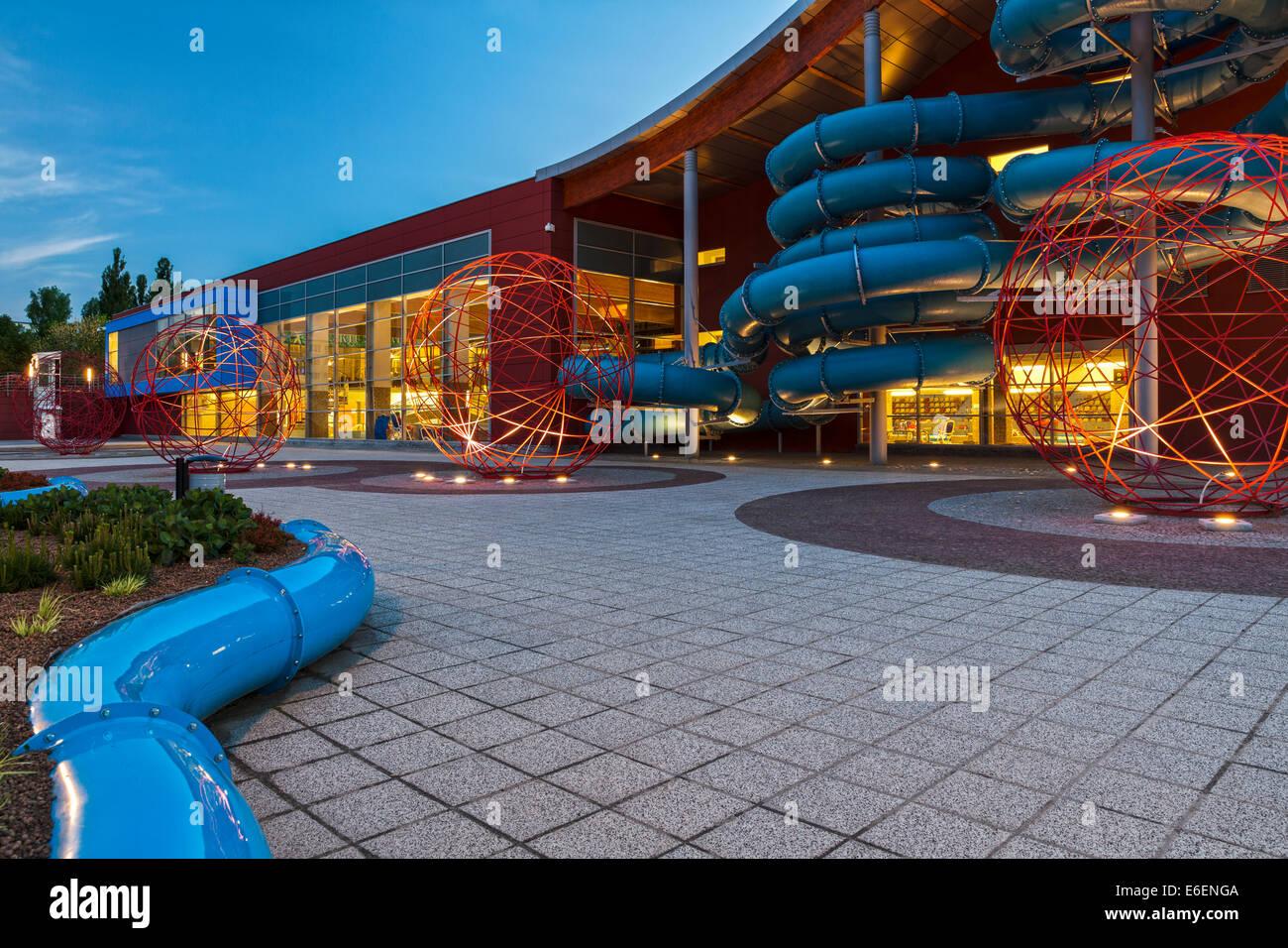 Olympic swimming pool in Olsztyn, Poland - Stock Image