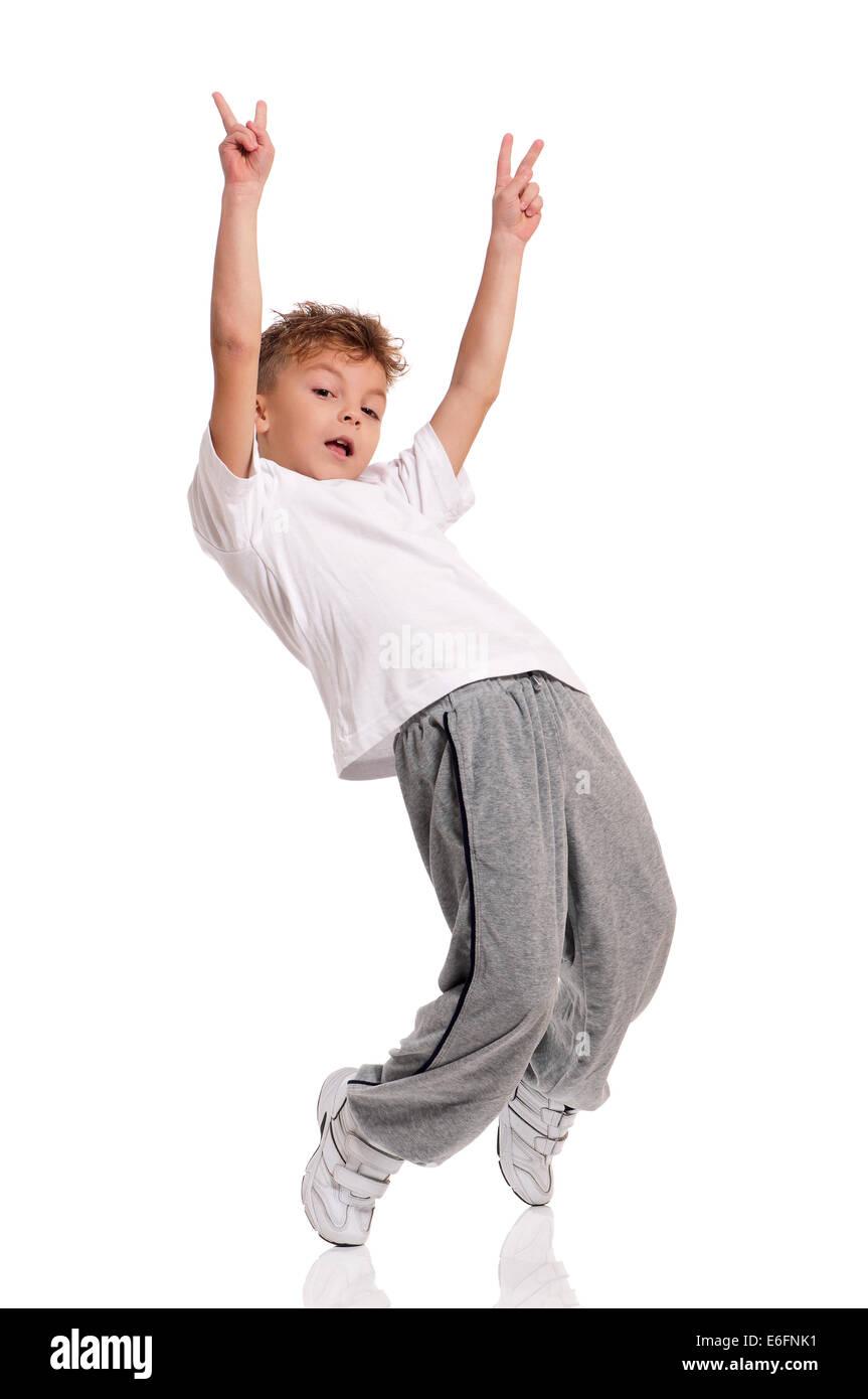 Boy dancing - Stock Image