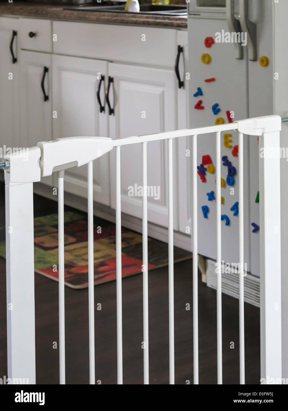 Etonnant Baby Gate At Kitchen Doorway, USA