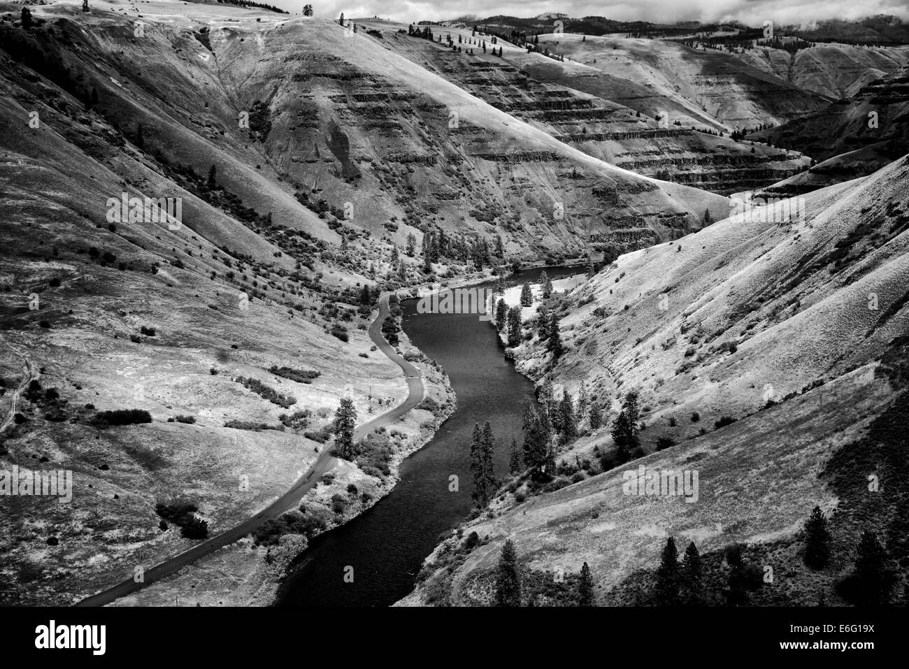 Grand Ronde Wild and Scenic River and canyon. Oregon Stock Photo