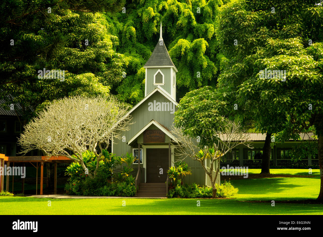 Church at Four Seasons Lodge at Koele. Lanai, Hawaii. - Stock Image