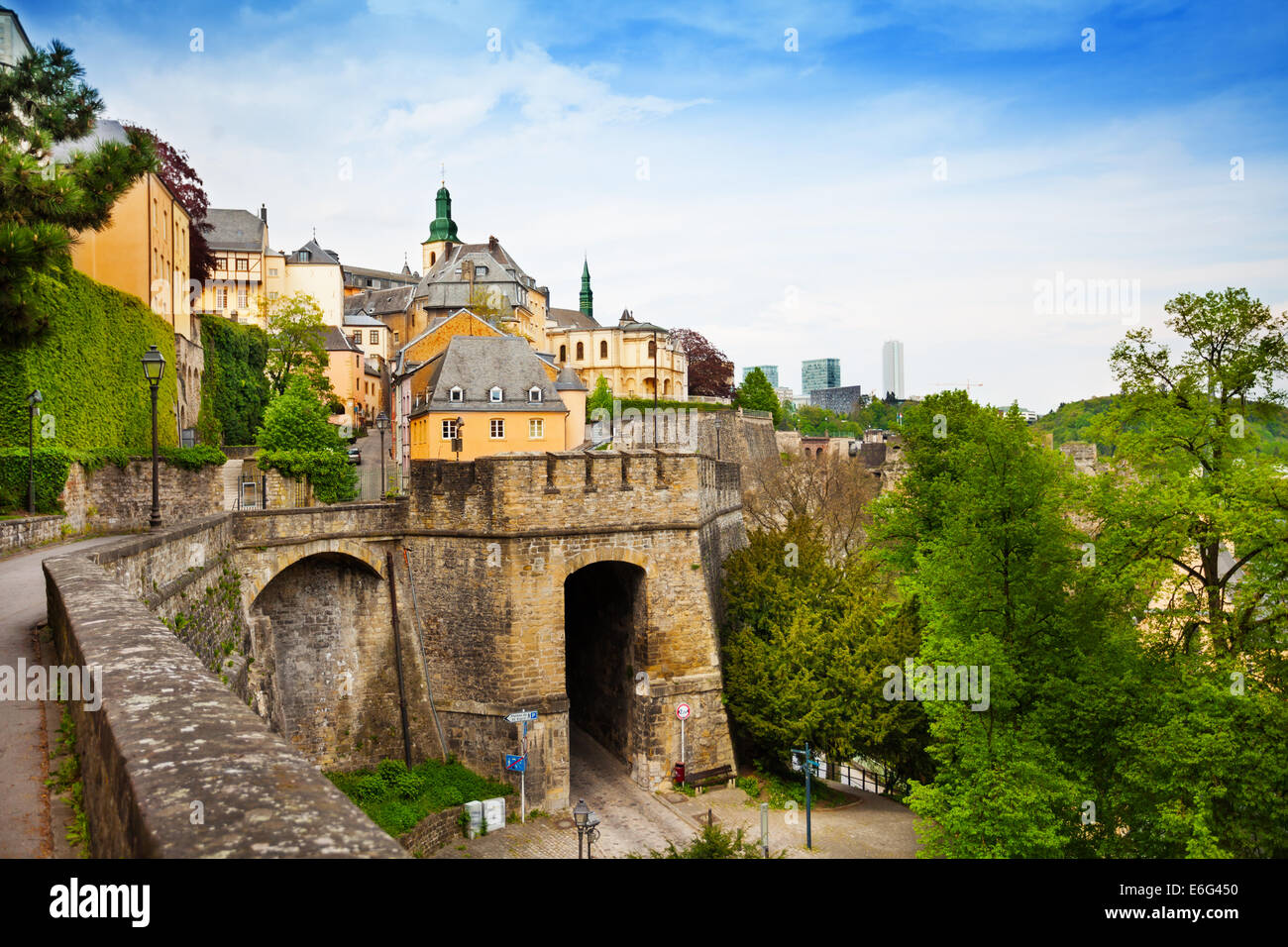 Luxemburg beautiful city view in summer - Stock Image