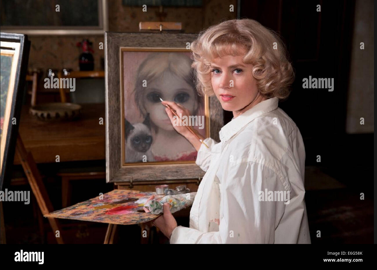 BIG EYES 2014 Weinstein Company film with Amy Adams - Stock Image