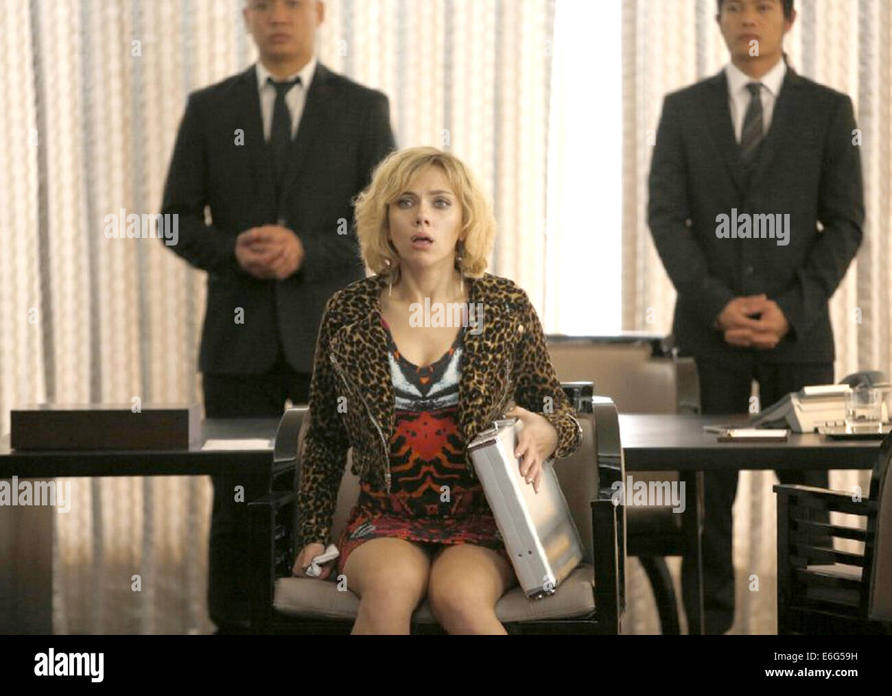 LUCY 2014 Canal+ film with Scarlett Johansson - Stock Image