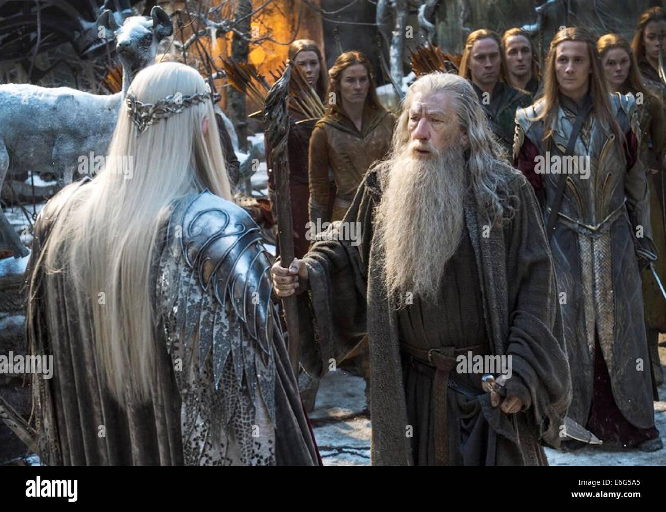THE HOBBIT: THE BATTLE OF THE FIVE ARMIES 2014 Warner Bros fiim with Ian McKellen - Stock Image