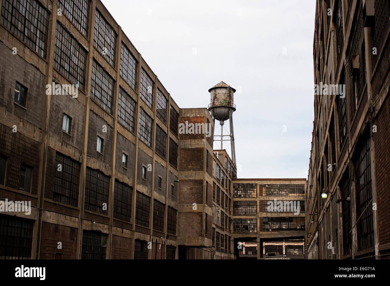 Deserted industrial area. Detroit, MI - Stock Image