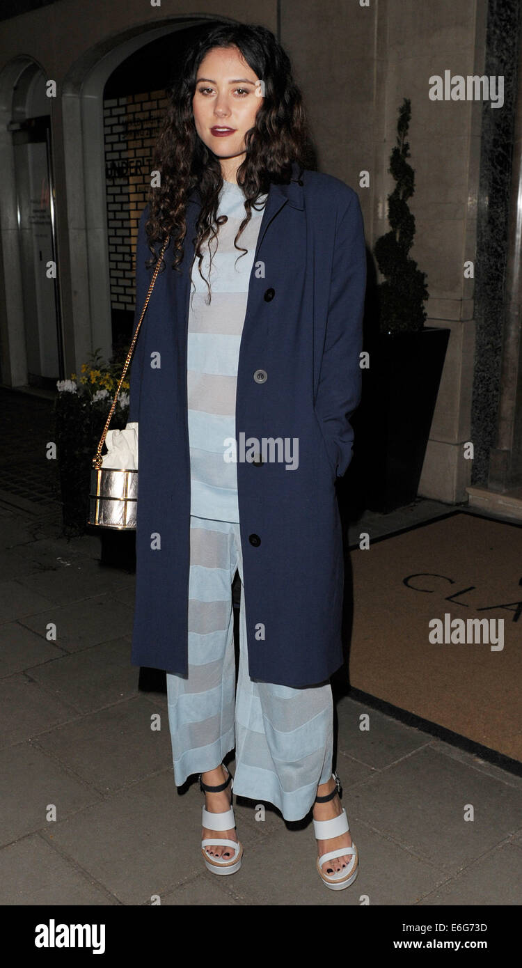 dacbe01afc34 London Fashion Week Autumn Winter 2014 - Mulberry Dinner at Claridge s to  celebrate the launch of the Cara Delevingne Collection Featuring  Eliza  Doolittle ...